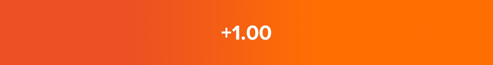 +1.00