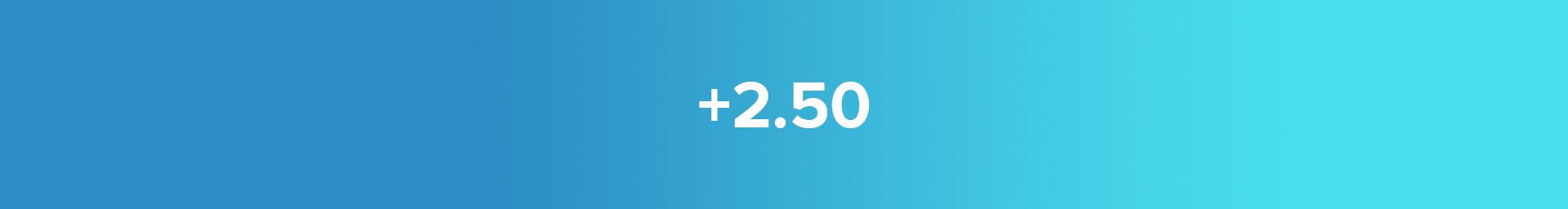 +2.50